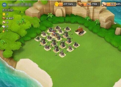 《海岛奇兵》42级木材资源岛防御阵型